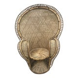 Image of 1930s Boho Chic Emmanuelle Wicker Peacock Chair For Sale