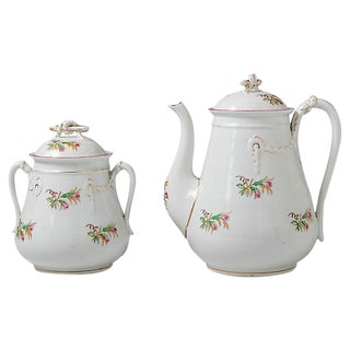 Bone China Coffeepot & Sugar Bowl - A Pair