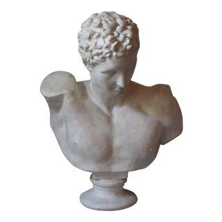 Vintage Plaster Bust of Hermes