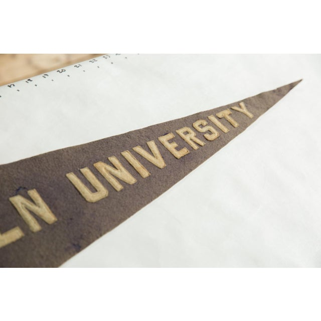 Americana Rare Antique Lincoln University Felt Flag Pennant For Sale - Image 3 of 6