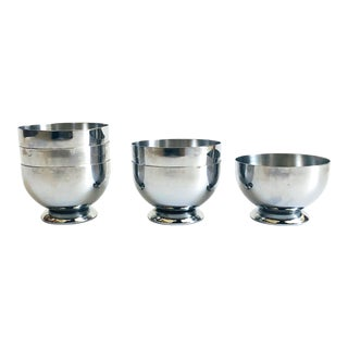 Art Deco Chase Gaiety Chrome Cups - Set of 6 For Sale