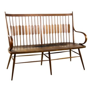 Kipp Stewart for Drexel Centennial Line Spindle Settee Bench