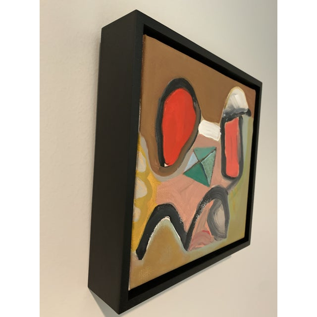 Black Floater Framed Contemporary Abstract Original Painting For Sale - Image 4 of 10
