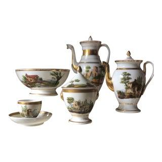 19th Century Russian Porcelain Tea Set - 21 Piece Set For Sale