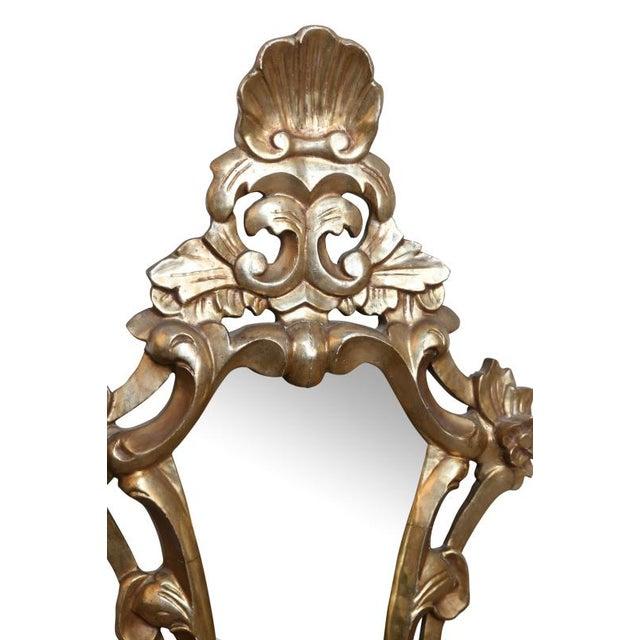 19th century pair of Italian Mirrors with original mirror. Water gilding, very elegant!