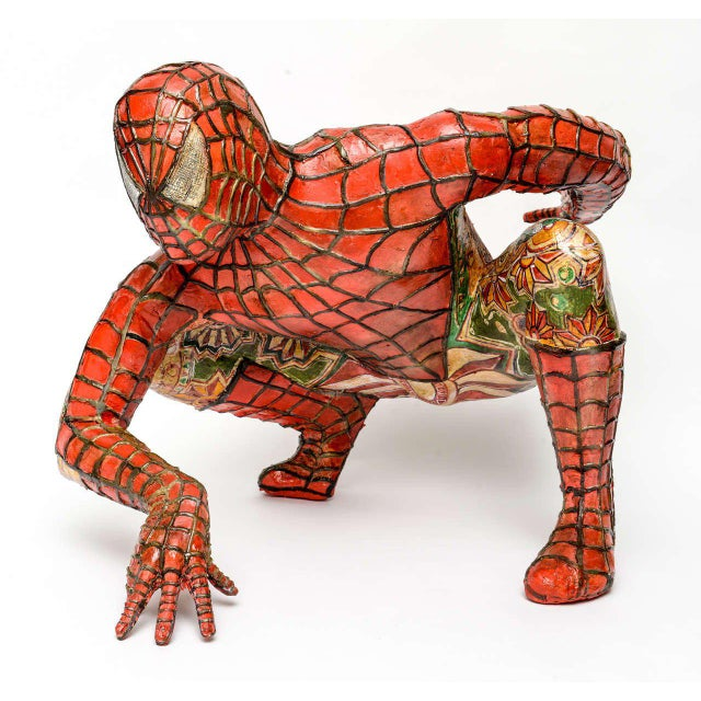 Domenico Pellegrino Spiderman Sculpture - Image 2 of 10