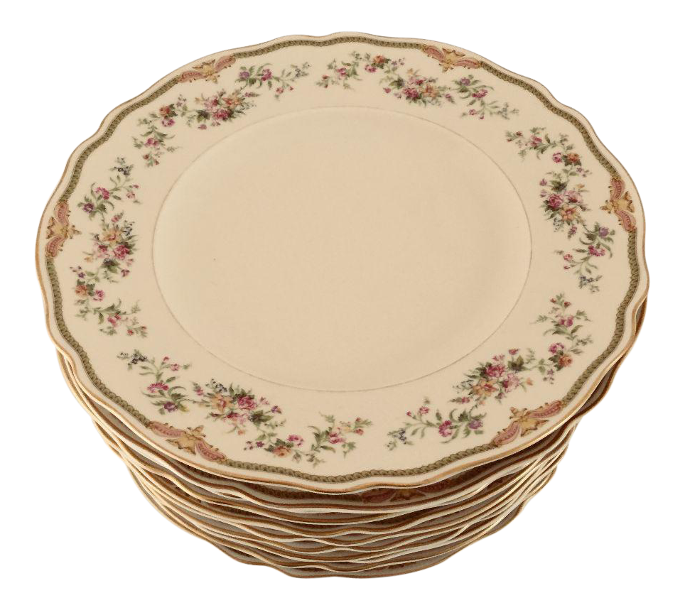 Vintage French Style Fine Porcelain Dinner Plates - Set of 11  sc 1 st  Chairish & Vintage u0026 Used Green Dinnerware | Chairish