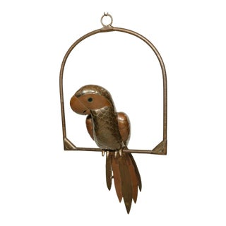 Copper and Brass Parrot by Sergio Bustamante For Sale