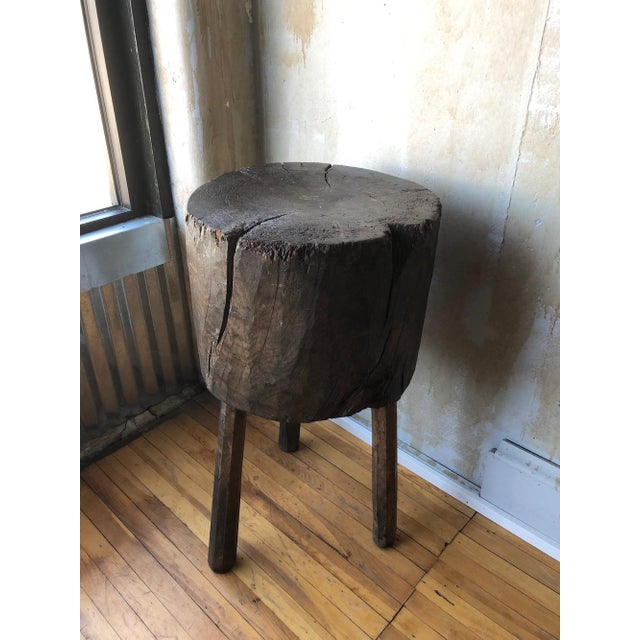 Rustic Tuscan Tree Trunk Butcher Block For Sale - Image 10 of 11