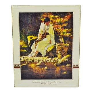 1988 Roger Cooke Native American Inspired Woman Print