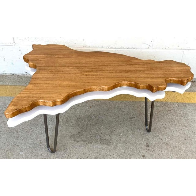 Late 20th Century Modern Two-Tier Cloud Drinks/Side Table For Sale - Image 5 of 6