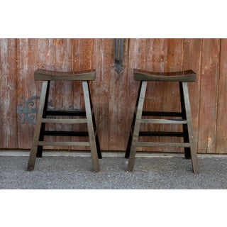 Asian Tall Stools, Pair Preview