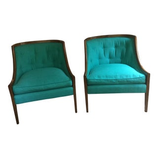 Vintage Empire Style Pair of Chairs For Sale