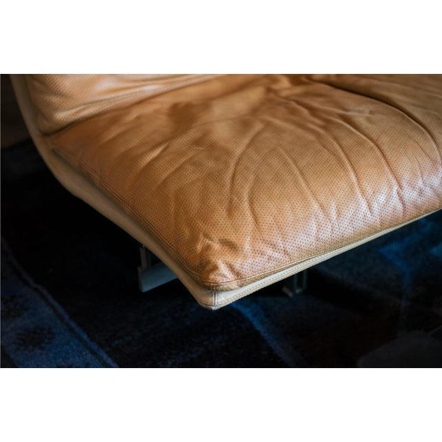 Giovanni Offredi 'Wave' Leather Sofa by Saporiti, Italy For Sale In Austin - Image 6 of 13