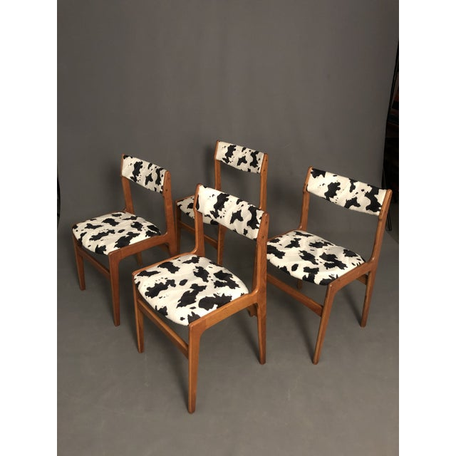 Vintage Mid Century Curated Teak Danish Dining Chairs- Set of 4 For Sale - Image 12 of 12