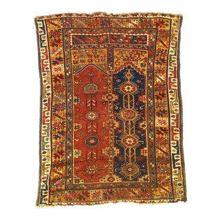Late 19th Century Antique Anatolian Turkish Rug-4′2″ × 5′5″ For Sale