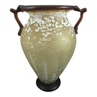 Large Murano Art Glass Vase For Sale