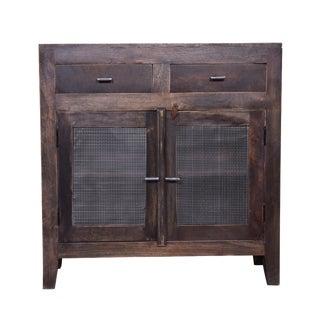 Porter Two Door Wooden Cabinet For Sale