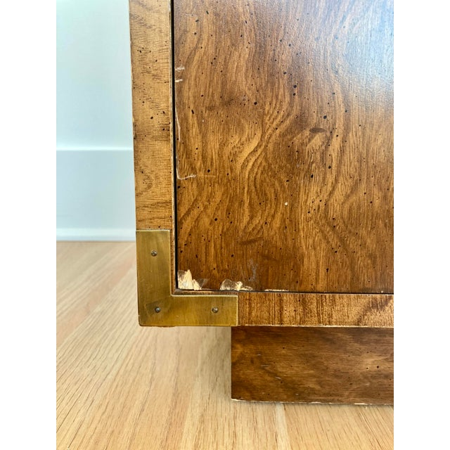 Late 20th Century Dixie Campaign Nightstand For Sale - Image 11 of 12