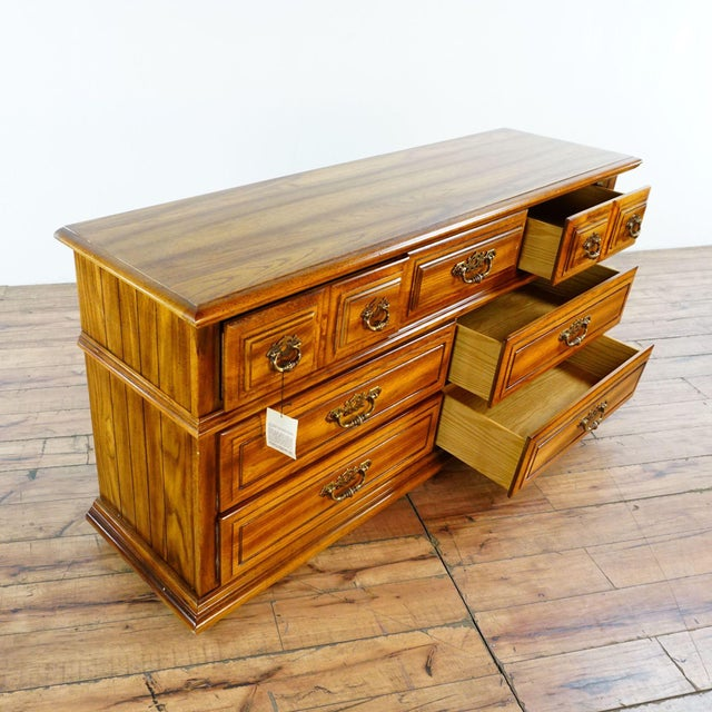 Broyhill Wooden Dresser For Sale - Image 9 of 12
