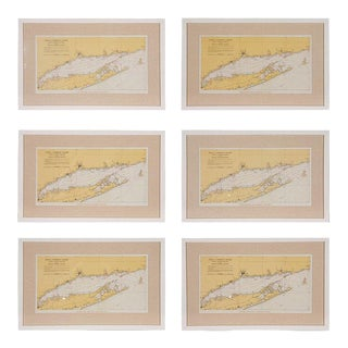Long Island Tital Charts or Maps - Set of 6 For Sale