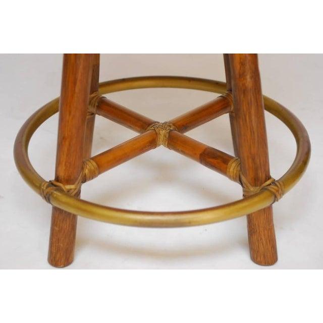 McGuire Bamboo & Cane Swivel Barstools - Set of 4 - Image 7 of 10