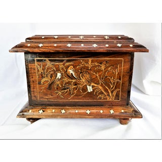 Antique Wood and Bone Inlay Bird Box Preview