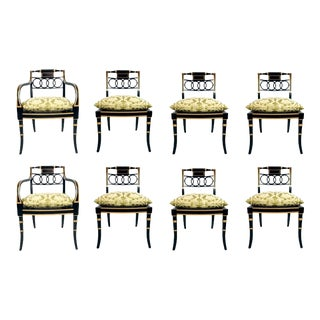Set of 8 Baker Charleston Collection Dining Chairs For Sale
