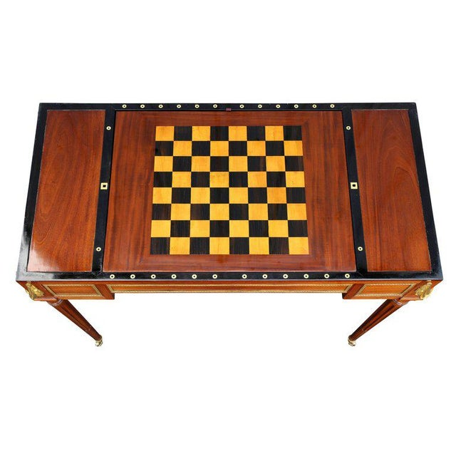 Late 18th Century Fine Louis XVI Mahogany and Ormolu Mounted Tric Trac Table For Sale - Image 5 of 12