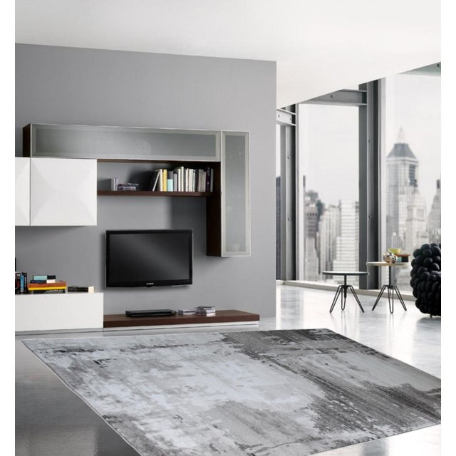 Abstract Area Rug Gray - 5'3'' x 7'7'' For Sale - Image 4 of 5