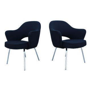 Eero Saarinen Vintage Executive Arm Chairs - A Pair For Sale