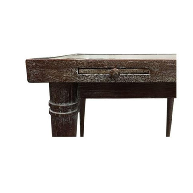 This well-chosen table makes for an unavoidably delightful gathering locale. With a ceruse finish on oak, this antique-...