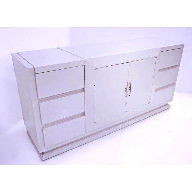 Express a distinct style and taste with this striking yet elegant Art Deco painted buffet, and you will love the...
