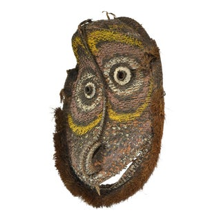 Large Basketry Gable Mask from Papua New Guinea For Sale