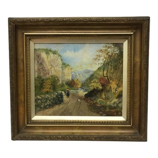 Antique English Oil Painting For Sale