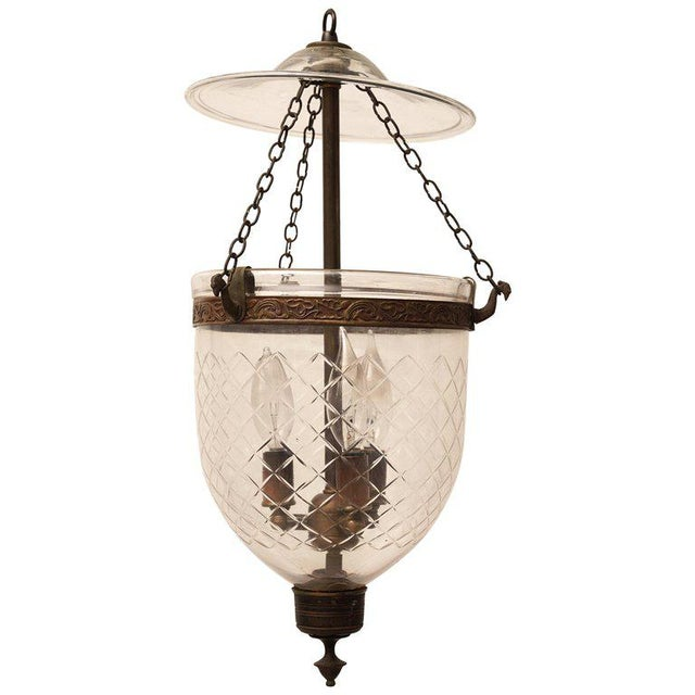 Late 19th Century English Bell Jar Hall Lantern For Sale In Nantucket - Image 6 of 6