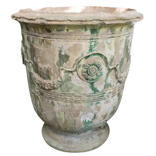 Green 19th Century Grand Anduze Jars For Sale - Image 8 of 13