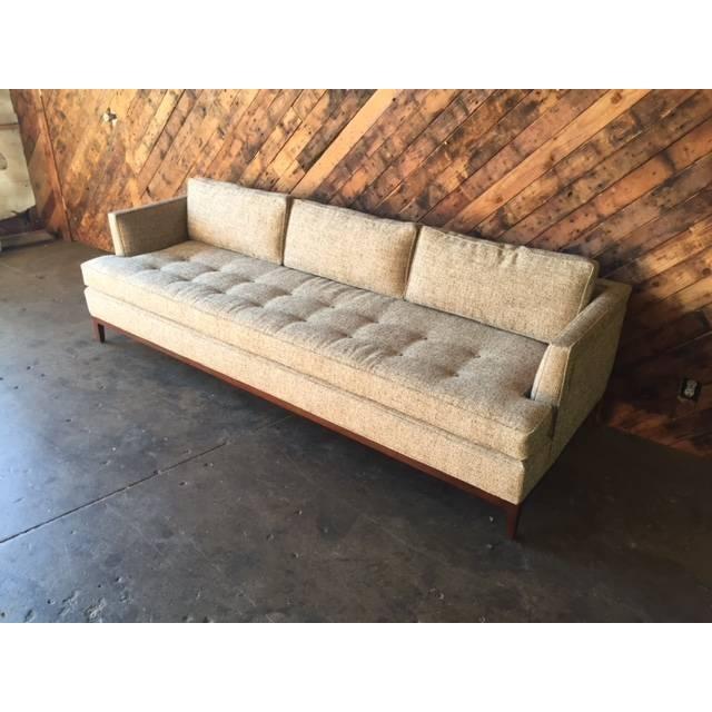 Mid Century Style Sofa: Oatmeal Mid-Century Style Custom Sofa