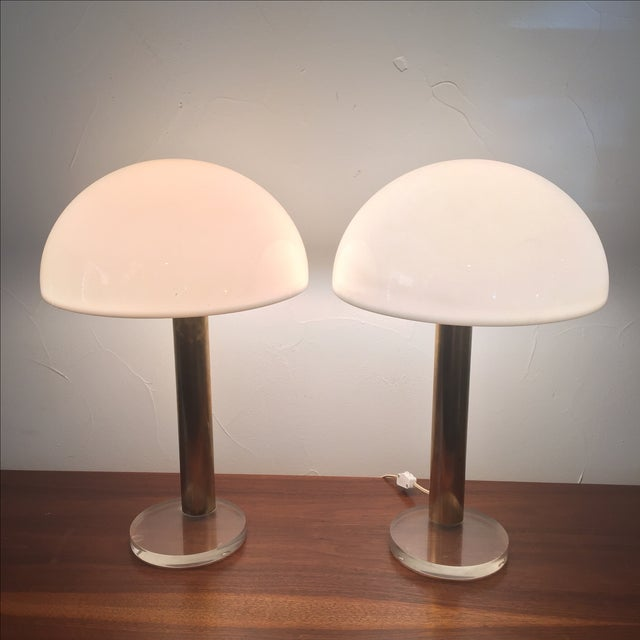 1980s Gage Cauchois Lucite Lamps - A Pair For Sale - Image 7 of 7