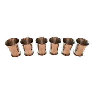 Tiffany & Co Vintage Pewter Mint Julep Cups - Set of 6