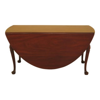 Kittinger Cw-117 Colonial Williamsburg Mahogany Drop Leaf Table