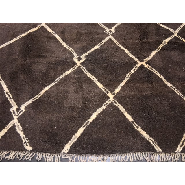 "Organic Moroccan Wool Rug - 9'3"" x 11'4"" - Image 3 of 9"