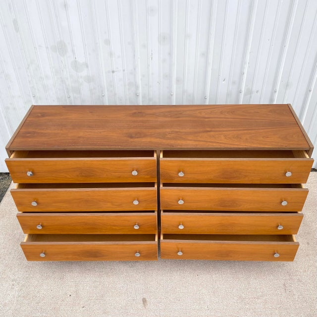 Mid-Century Modern Vintage Modern Six Drawer Teak Dresser For Sale - Image 3 of 13