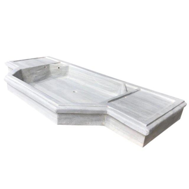 Antique Art Deco Turkish Marble Sink For Sale - Image 9 of 9