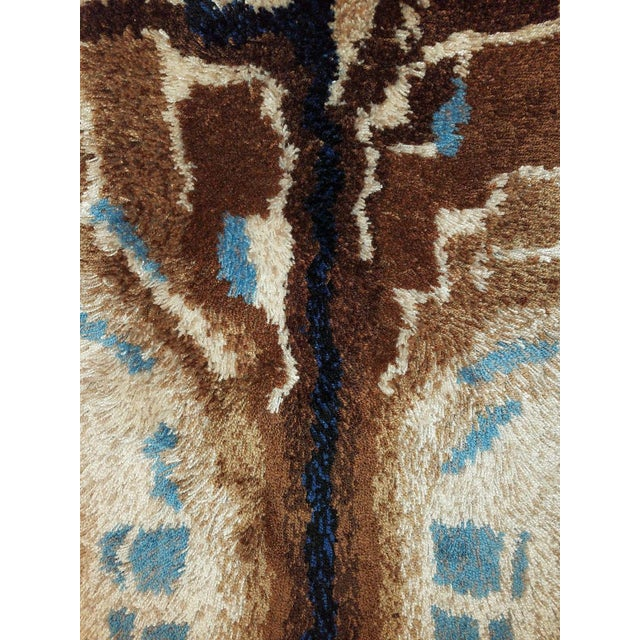 Abstract Vintage Mid-Century Mod Abstract Tree Rya Rug Wall Hanging For Sale - Image 3 of 7