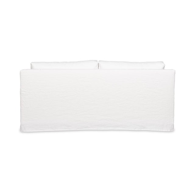 Moss Studios Moss Home Kathy Loveseat Oasis Optic White Linen For Sale - Image 4 of 7