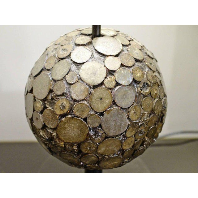 Modern Ado Chale, Table Lamp in Marcassite, Circa 1970 For Sale - Image 3 of 5