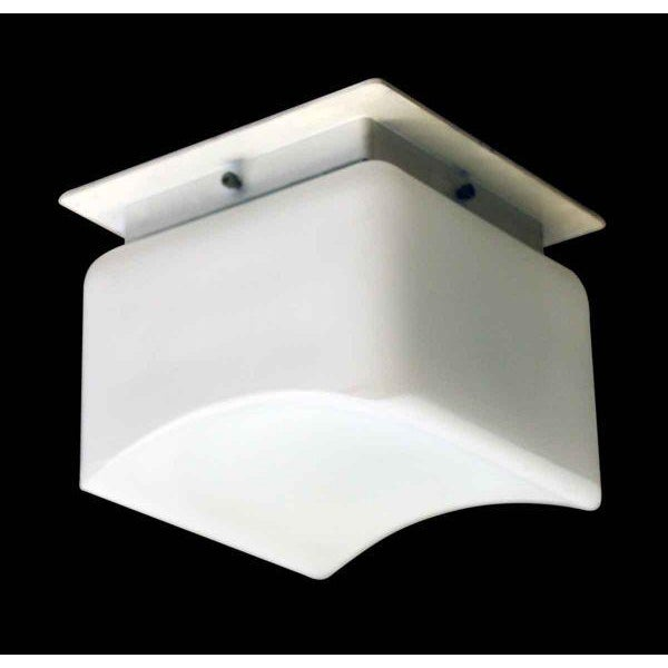 Opaline semi-flush light fixture. Made by Lumenform Lighting, Inc. Requires one bulb. Priced each.