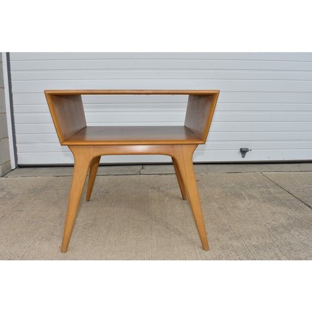 1950s Mid Century Modern Heywood Wakefield Side Table For Sale - Image 11 of 11