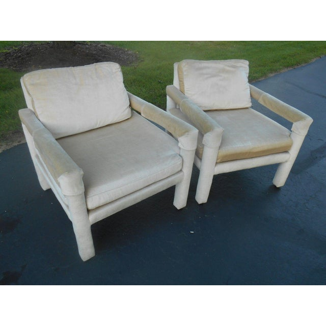Drexel Parsons Style Club Chairs - A Pair - Image 2 of 7